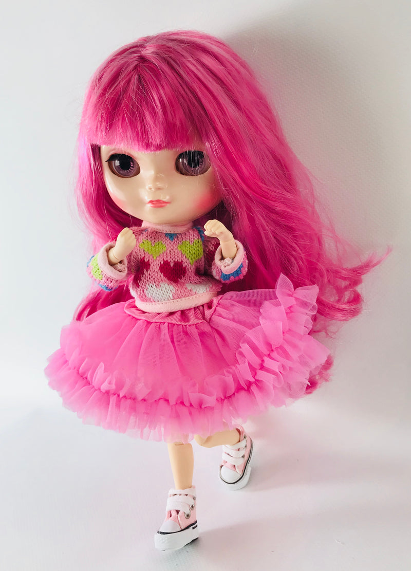 ANGELA Doll KNIT SWEATER HEARTS more colors