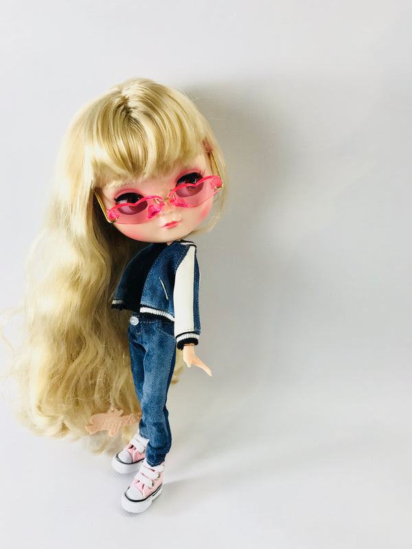 ANGELA Doll BASEBALL JACKET SUIT SET