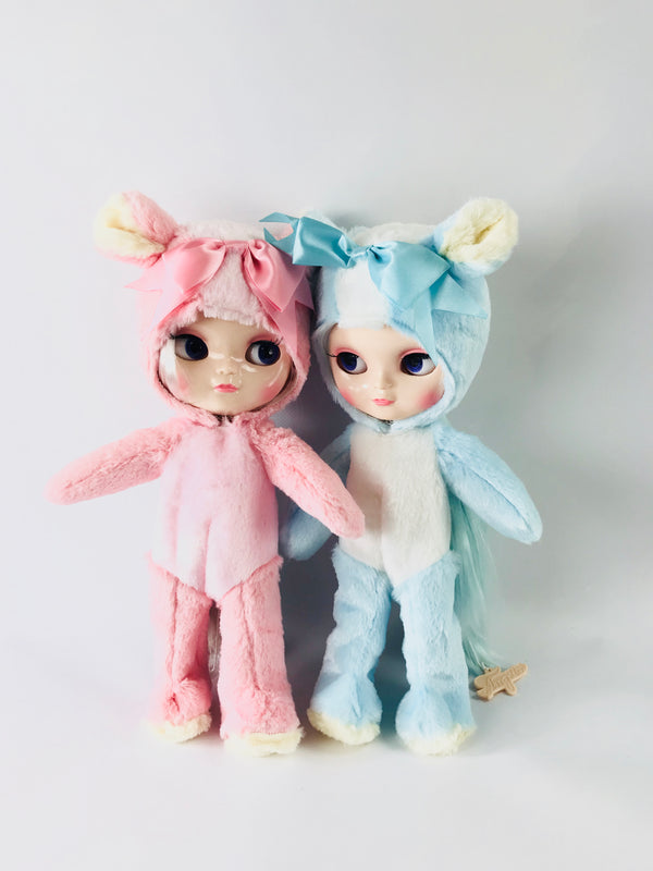 [ OUTLET] ANGELA Doll ONESIE ANIMAL SUIT 'Cherie Babette' BEAR COSTUME pink