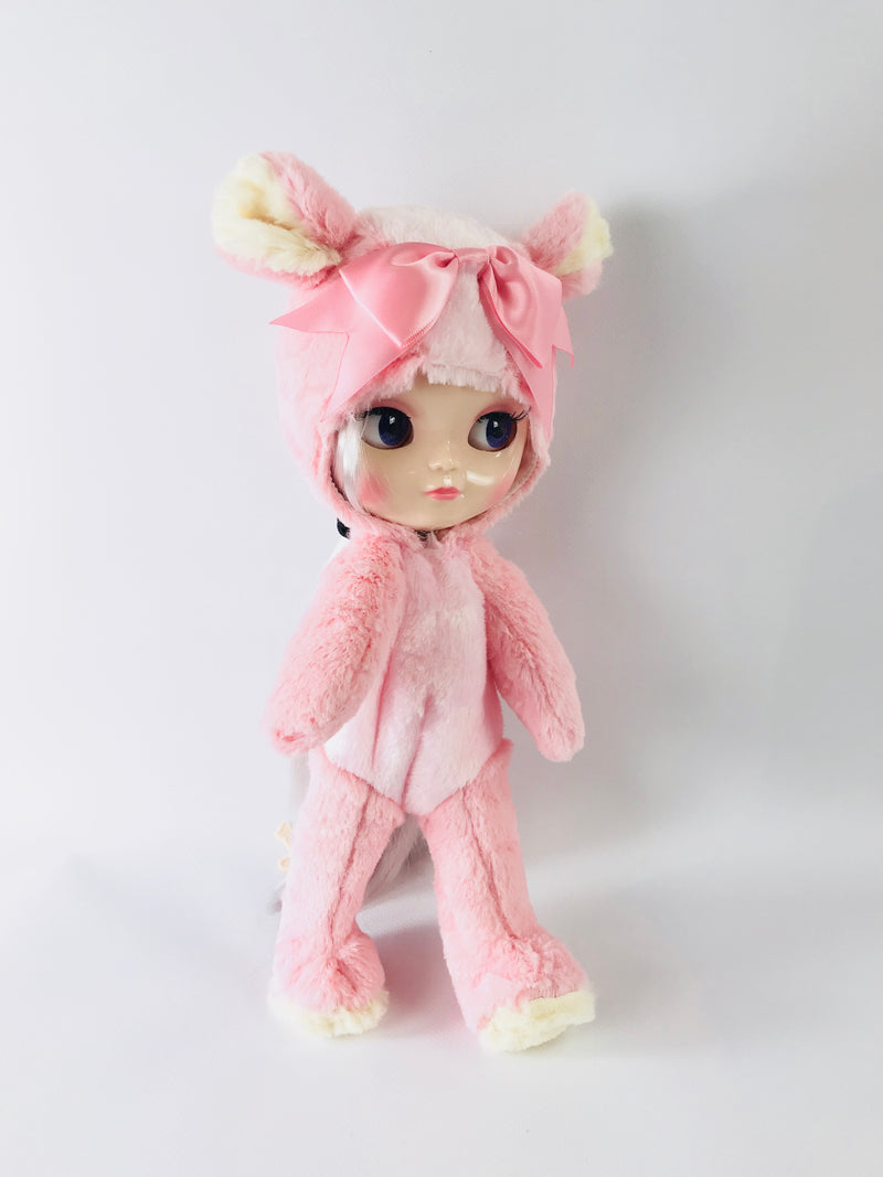 ANGELA Doll ONESIE ANIMAL SUIT 'Cherie Babette' BEAR COSTUME pink