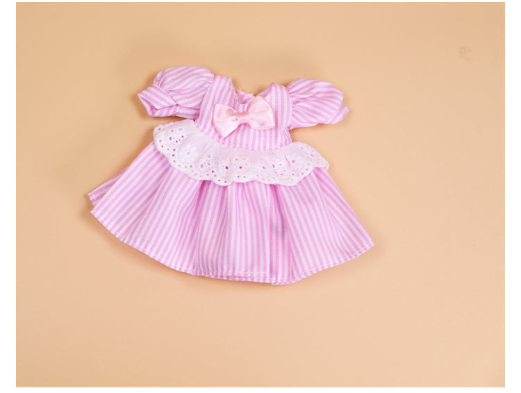 DOLL CLOTHING A12 for LUCKY Doll Bjd 1/6 pink dress