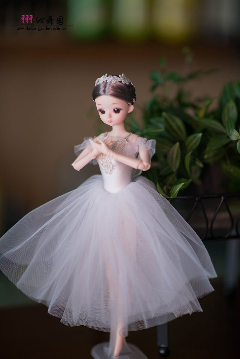 DOLLY's BALLERINA DOLL HANDMADE ROMANTIC TUTU T022 white