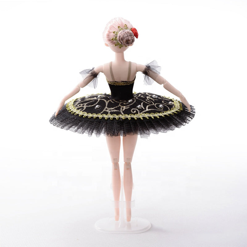 DOLLY's BALLERINA DOLL WITH A HANDMADE MINI PANCAKE TUTU T014 black