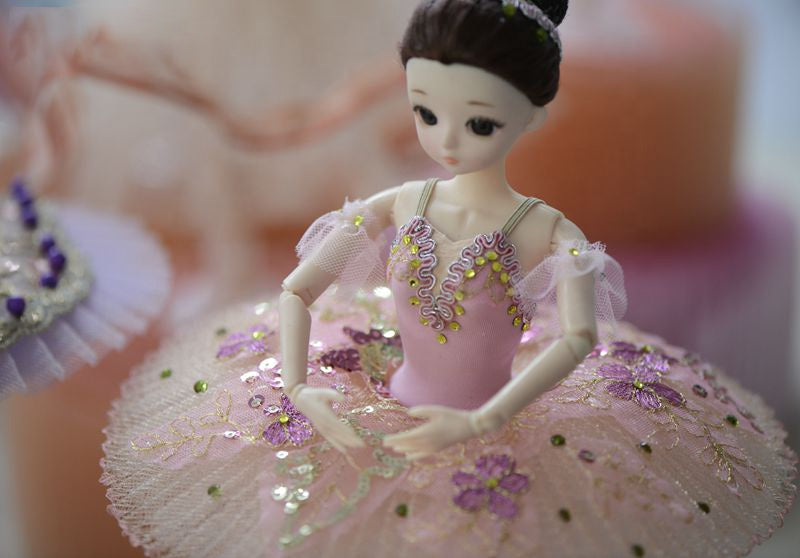 [ OUTLET] DOLLY's BALLERINA DOLL WITH A HANDMADE MINI PANCAKE TUTU T016 pink