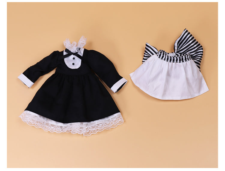 DOLL CLOTHING A13 for LUCKY Doll Bjd 1/6  waitress dress