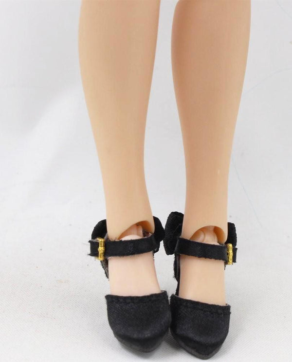 [ OUTLET] ANGELA Doll SATIN HIGH HEEL SHOES black