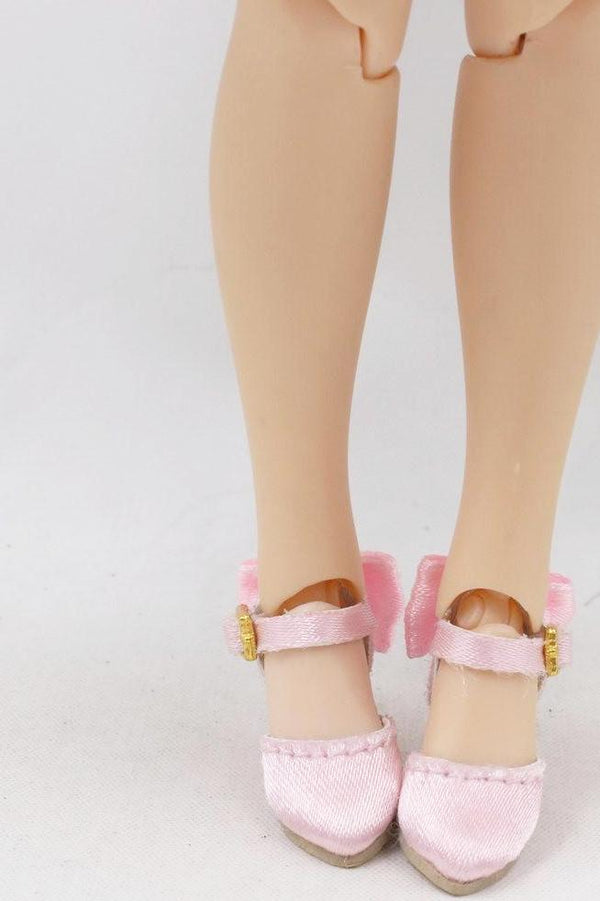 [ OUTLET] ANGELA Doll SATIN HIGH HEEL SHOES light pink