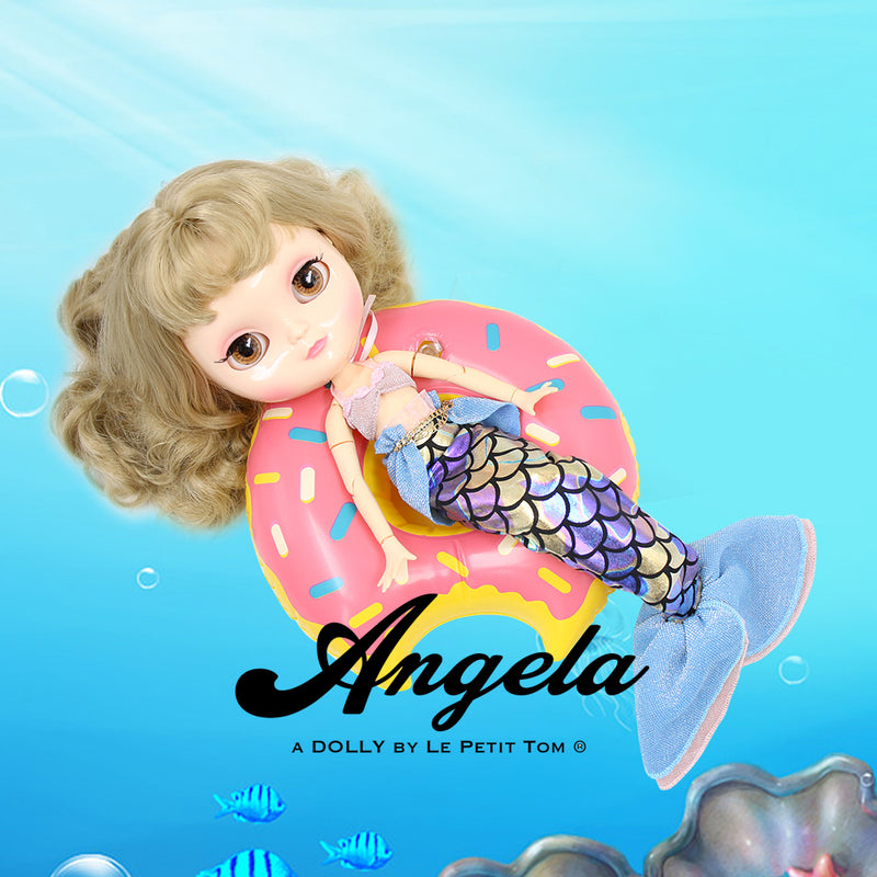 ANGELA Doll MERMAID DRESS SUIT SET FISH TAIL & BIKINI TOP