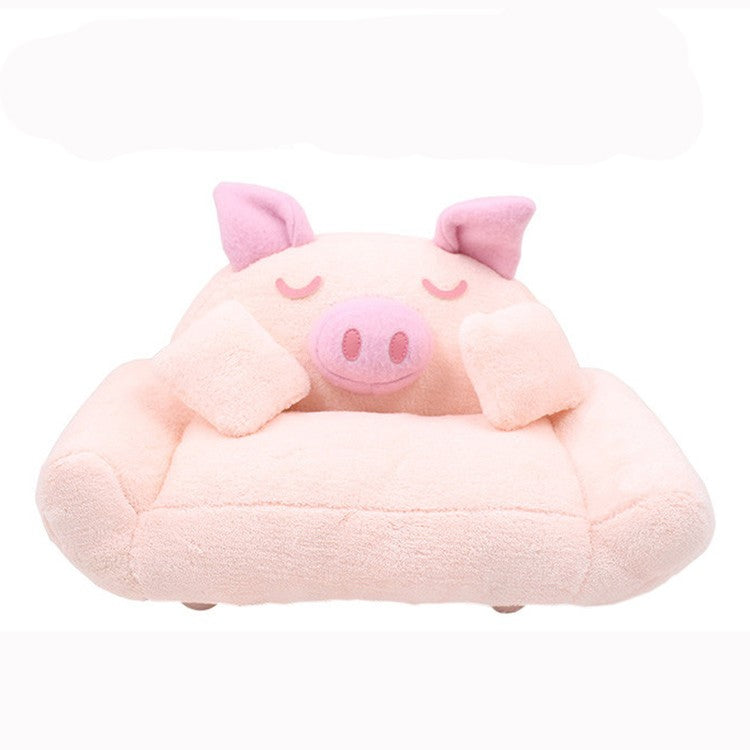 ANGELA Doll PLUSH PIGGY SOFA WITH PILLOWS