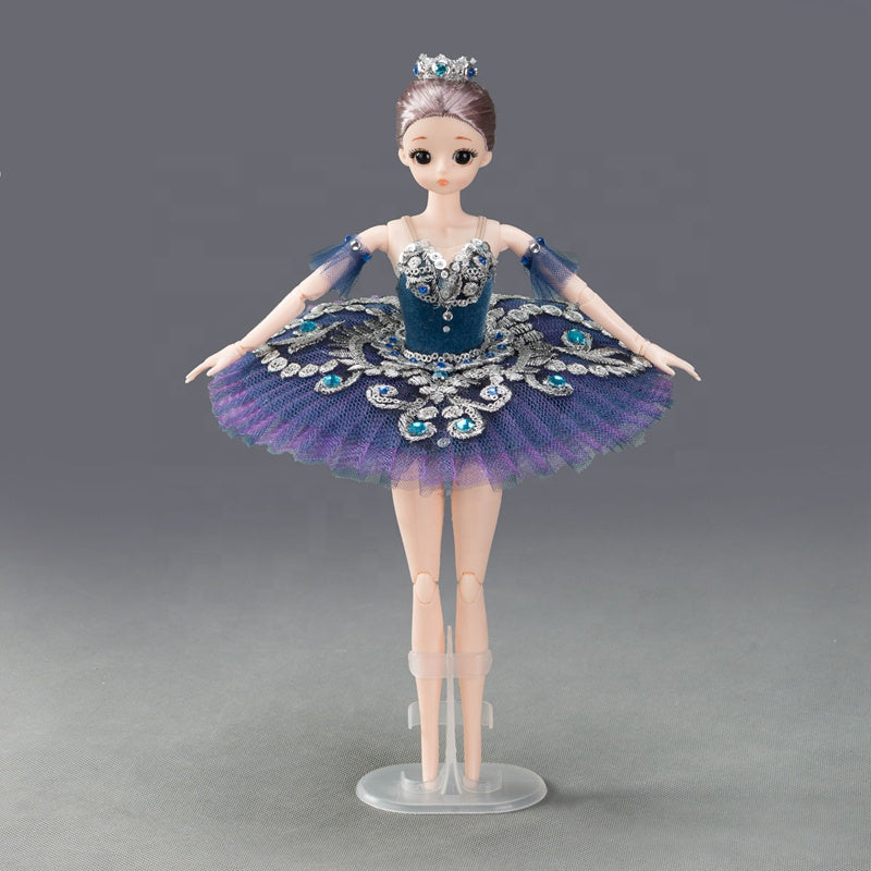 DOLLY's BALLERINA DOLL WITH A HANDMADE MINI PANCAKE TUTU T009 navy