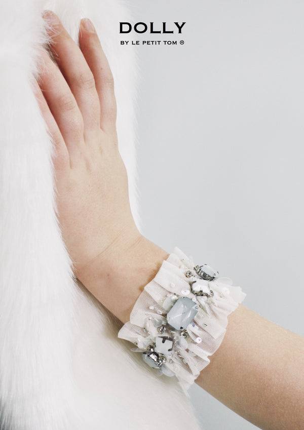 DOLLY by Le Petit Tom ® ICE BEAR armband white - DOLLY by Le Petit Tom ®