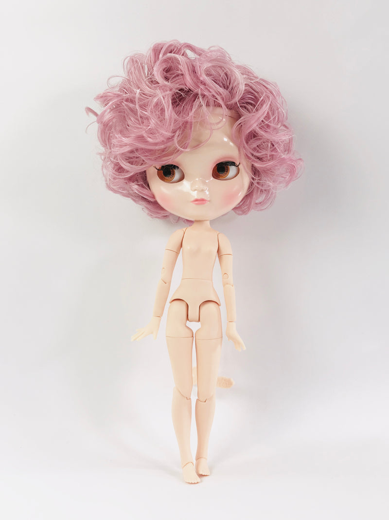 ANGELA Doll ICY doll SHORT CURLY HAIR DUSTY PINK + Dolly Lacy Fashion & bag