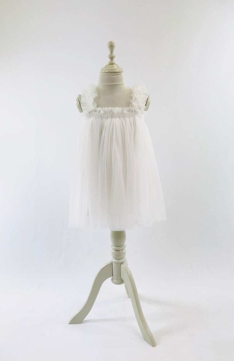DOLLY by Le Petit Tom ® TUTU DRESS BEACH COVER UP off-white