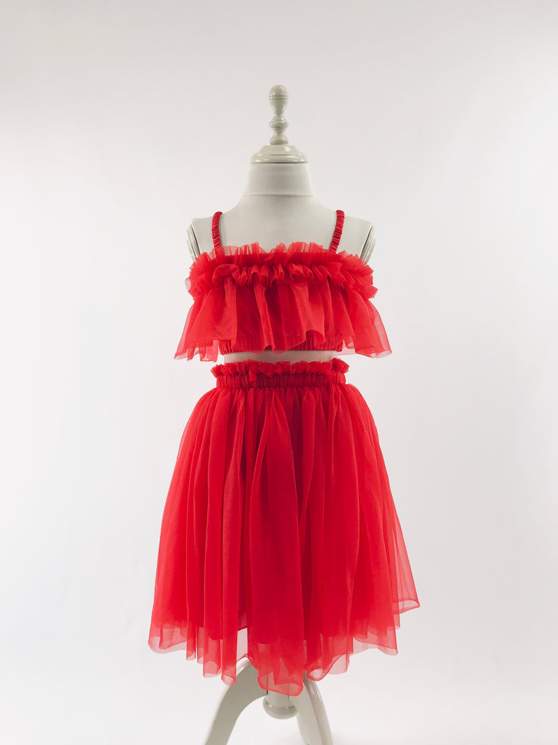 DOLLY by Le Petit Tom ® TUTU DRESS BEACH COVER UP red