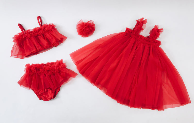 [ OUTLET!] DOLLY by Le Petit Tom ® BEACH BALLERINA BIKINI/ UNDERWEAR red