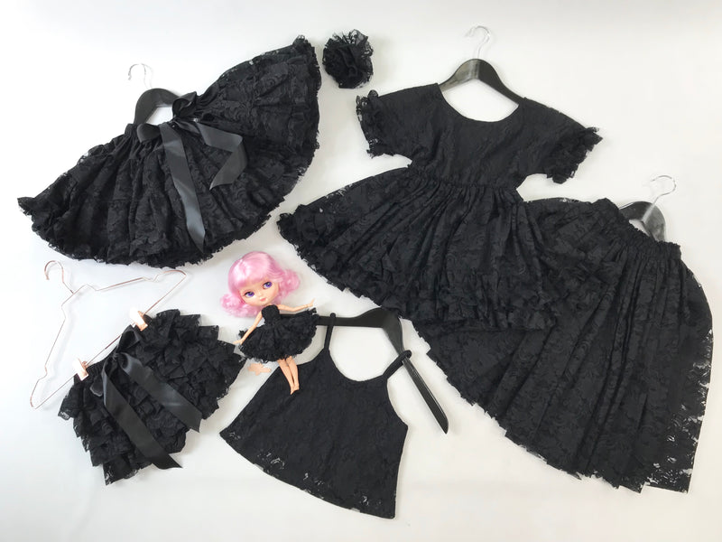 DOLLY by Le Petit Tom ® LACY FRILLY PANTS TUTU BLOOMER black