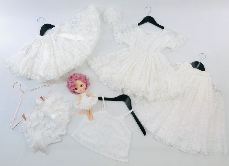DOLLY by Le Petit Tom ® LACY FRILLY PANTS TUTU BLOOMER off-white
