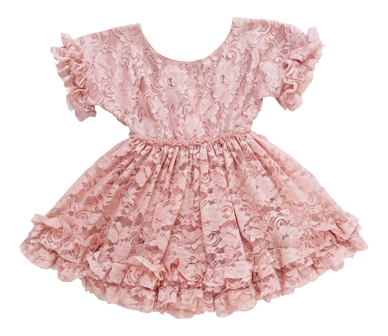 [OUTLET] DOLLY by Le Petit Tom ® LACY FRILLY DRESS pink