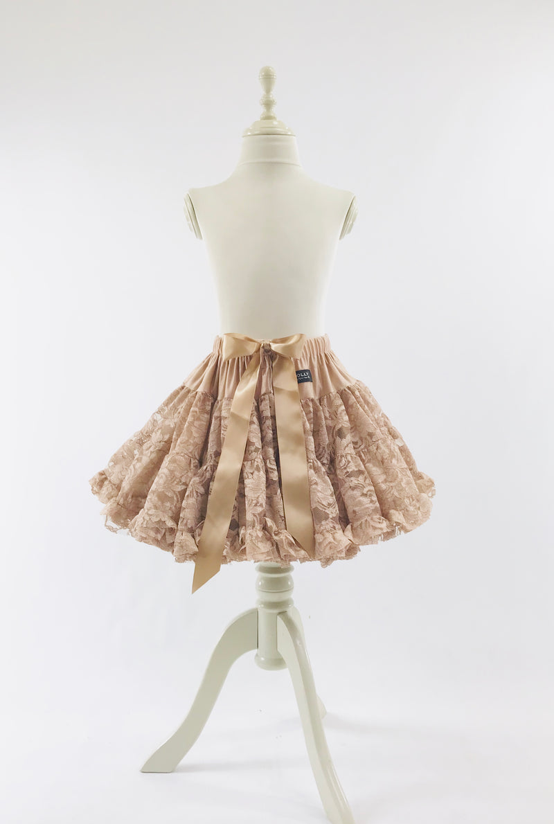 DOLLY by Le Petit Tom ® LACY PETTISKIRT taupe