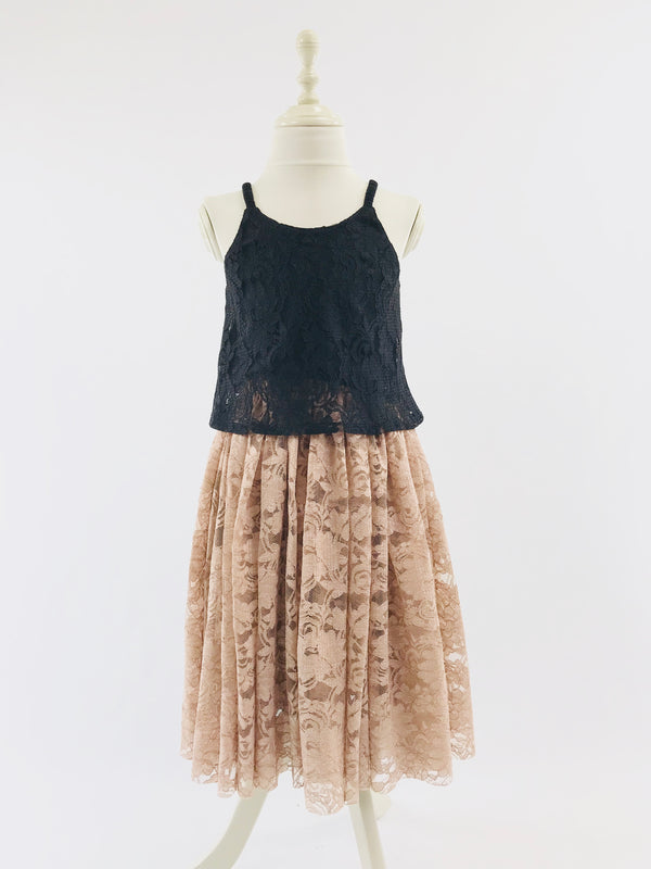 [OUTLET] DOLLY by Le Petit Tom ® LACY LONG TUTU taupe