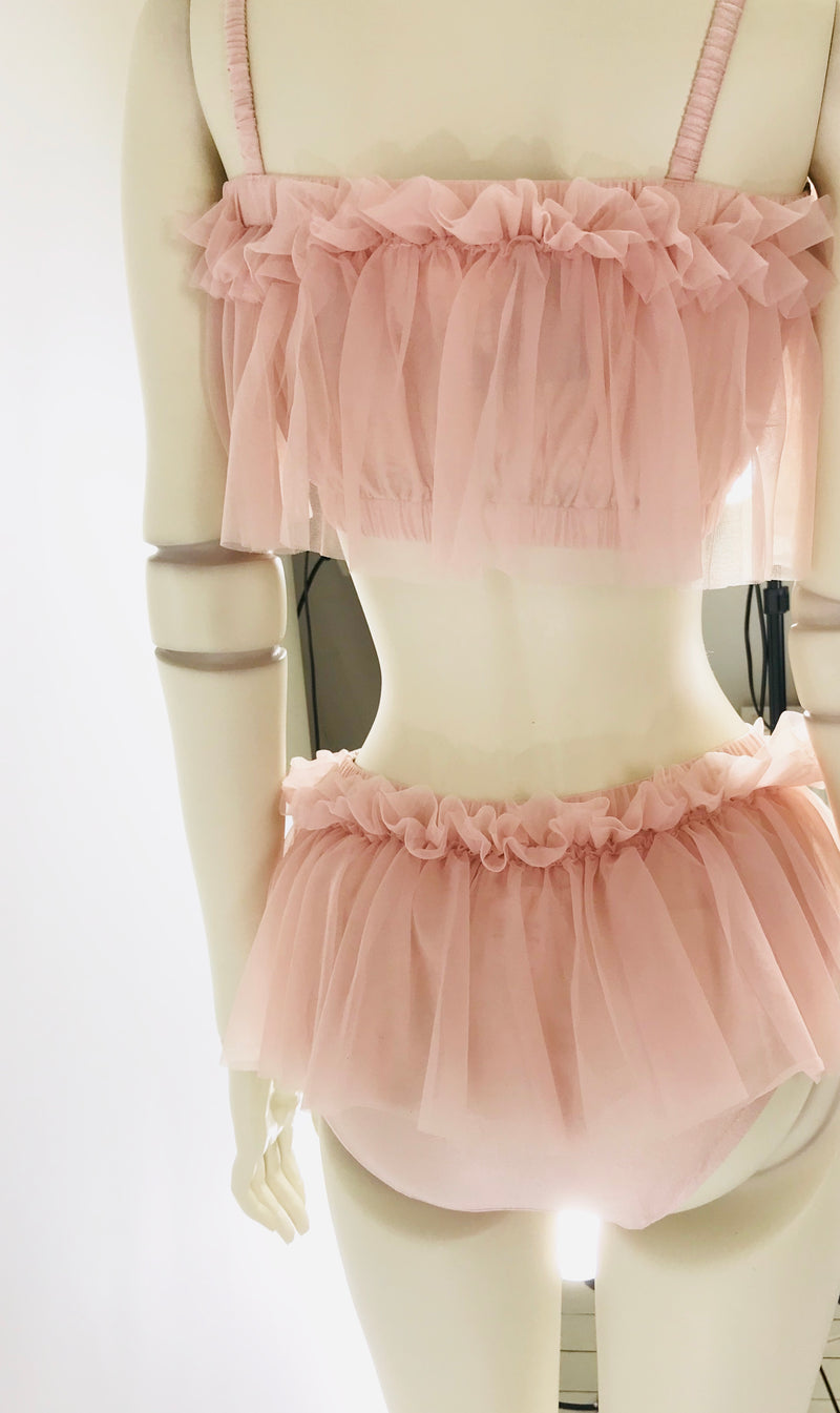 DOLLY by Le Petit Tom ® BEACH BALLERINA BIKINI/ UNDERWEAR ballet pink