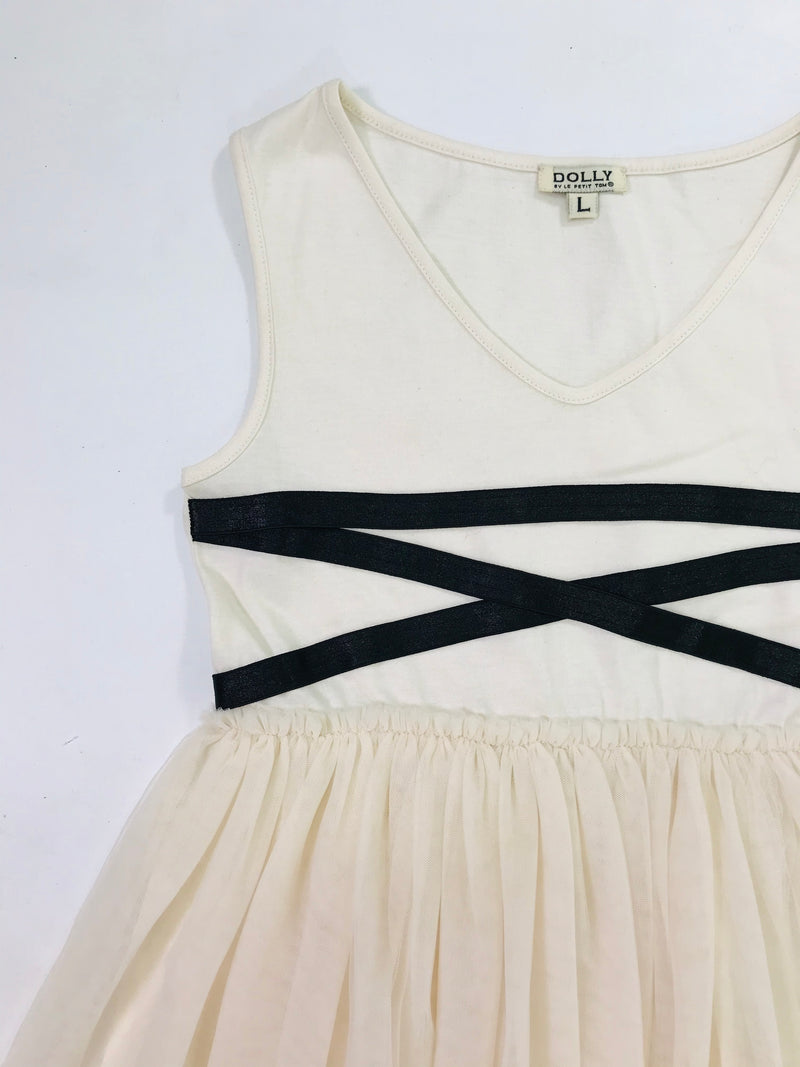 [EXPECTED NOV.]  DOLLY GOLIGHTLY BALLERINA LACE UP WAIST DRESS  I ♥COFFEE