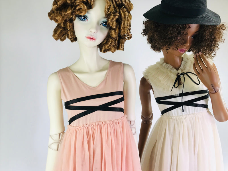 [EXPECTED NOV.] DOLLY GOLIGHTLY BALLERINA LACE UP WAIST DRESS ballet pink