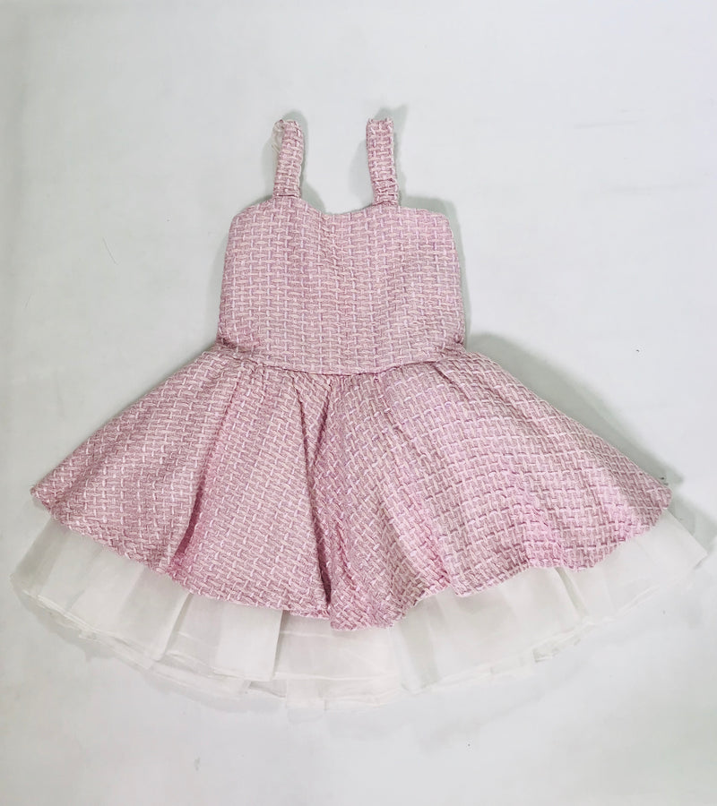 [OUTLET] LA DOLLY by Le Petit Tom ® TWEED BALLET DRESS pink glitter