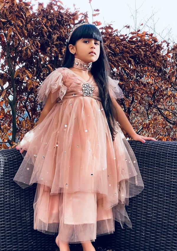 DOLLY by Le Petit Tom ® JEWELER'S CRYSTALS Opal Ondine tutu dress
