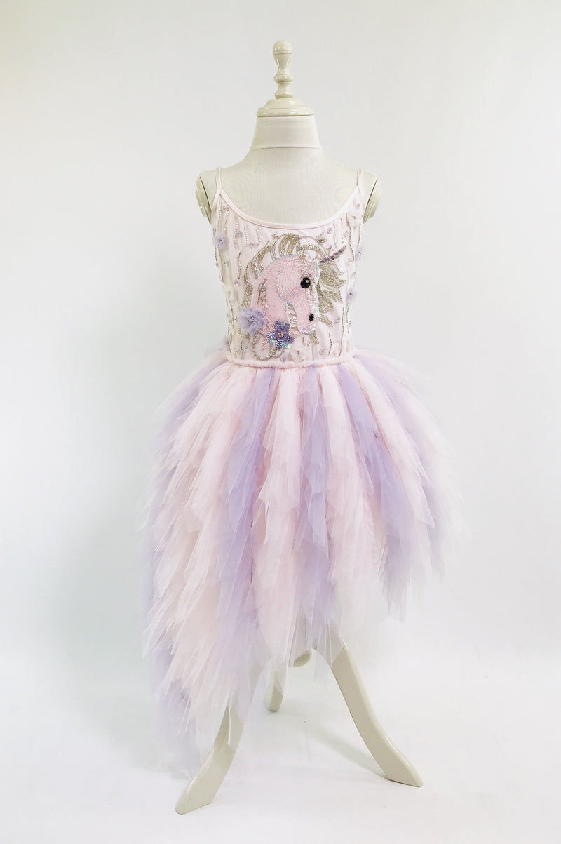 [ PRE ORDER *] DOLLY by Le Petit Tom ® UNICORN tutu dress & headband set