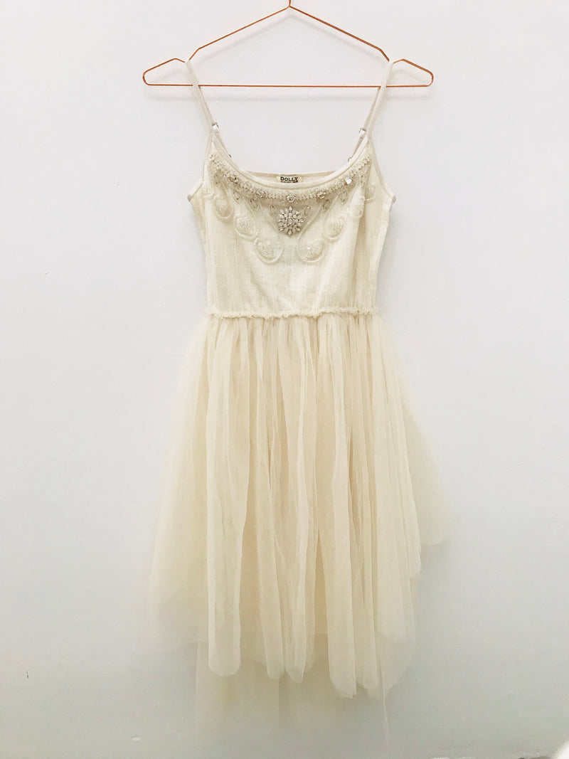 DOLLY by Le Petit Tom ® JEWELER'S CRYSTALS Clear Quartz tutu dress