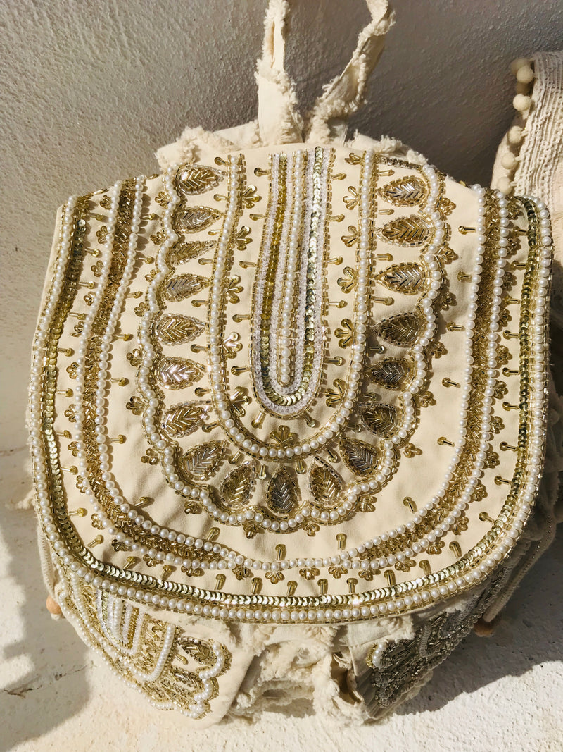 DOLLY by Le Petit Tom ® JEWELER'S CRYSTALS 'Gold' backpack