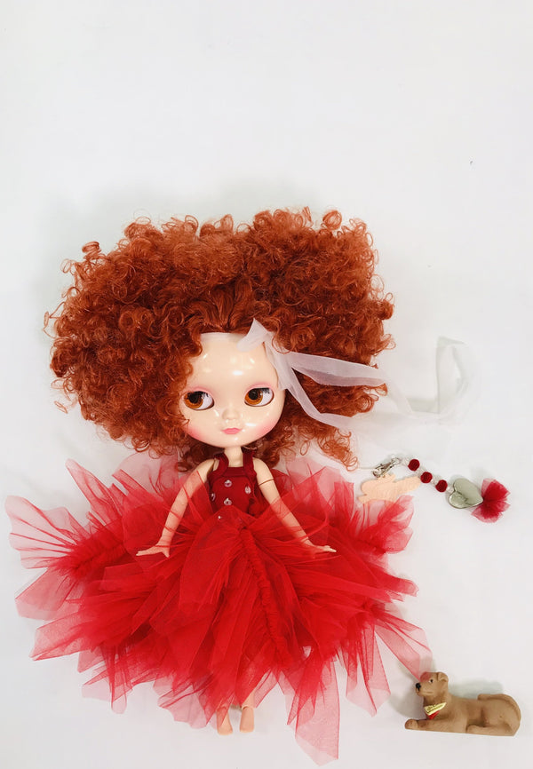 ANGELA Doll PULL CHARMS ANNIE WITH HEART
