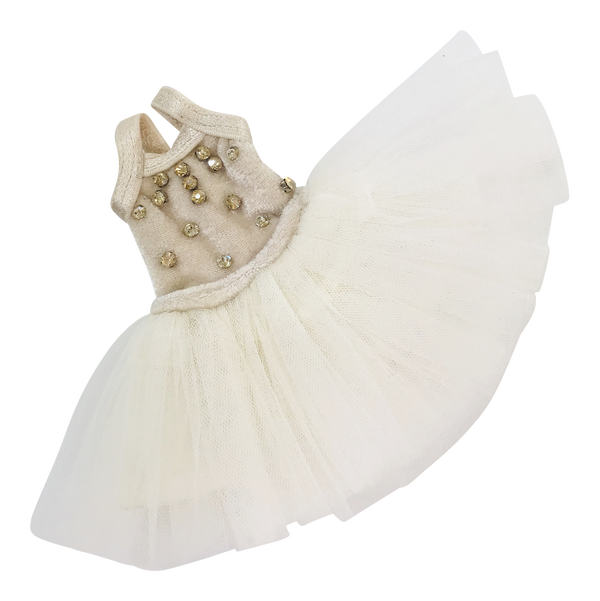 ANGELA Doll clothing DOLLY's 'Beauties & Beasts' ENCHANTED TUTU DRESS beige/ offwhite