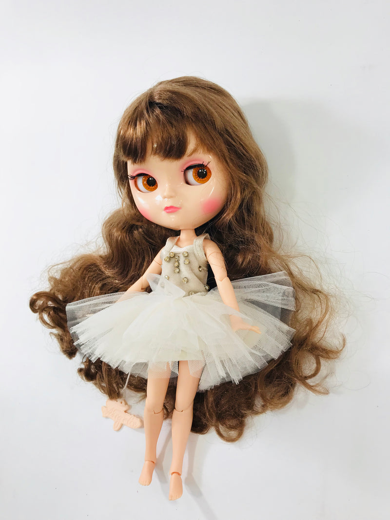 ANGELA Doll clothing DOLLY's 'Beauties & Beasts' ENCHANTED TUTU DRESS beige/ offwhite-dolls-DOLLY by Le Petit Tom ®