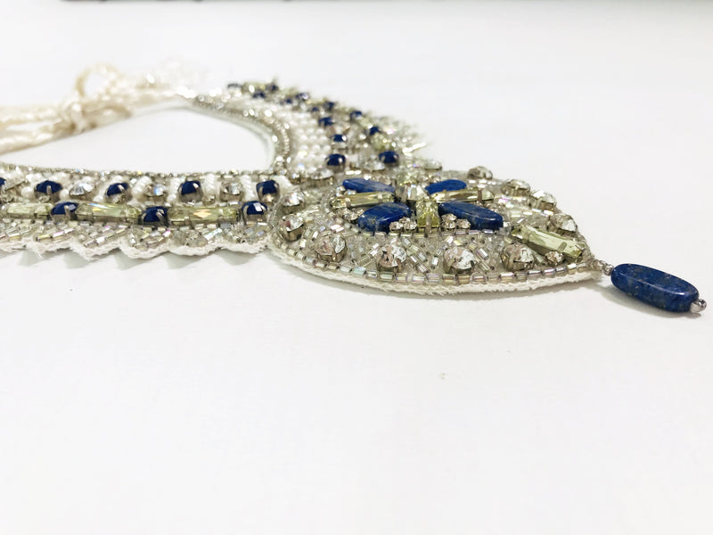 DOLLY by Le Petit Tom ® JEWELER'S CRYSTALS Lapis lazuli necklace