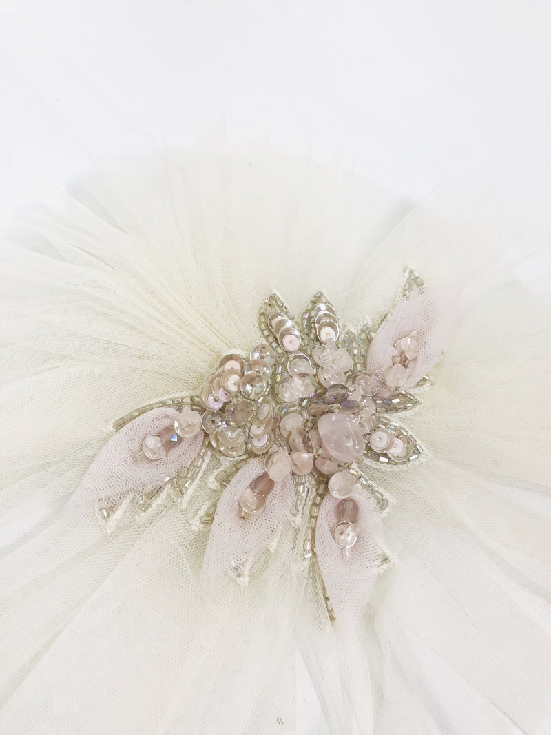 DOLLY by Le Petit Tom ® JEWELER'S CRYSTALS Rose Quartz hair clip/ broach