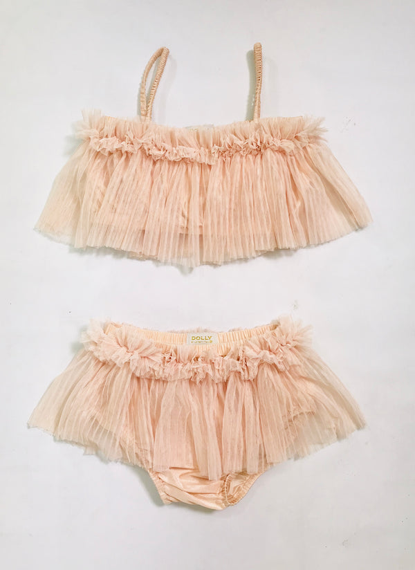 [OUTLET!] DOLLY by Le Petit Tom ® TULLE BIKINI SET ballet pink
