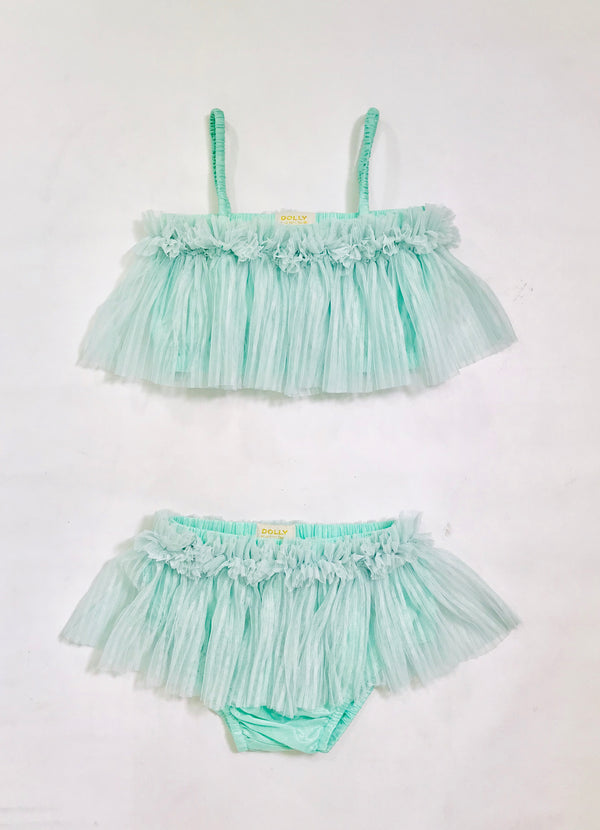 [OUTLET!] DOLLY by Le Petit Tom ® TULLE BIKINI SET turquoise