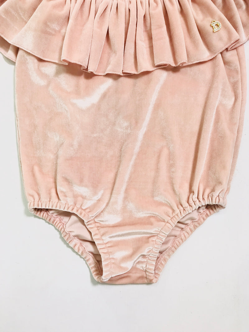 [OUTLET!] DOLLY by Le Petit Tom ® VELVET SWIMSUIT BODY ballet pink