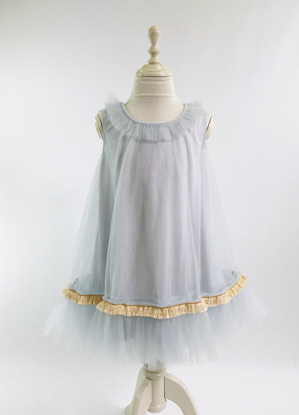 [OUTLET!] DOLLY by Le Petit Tom ® KINGS DAUGHTERS DAILY DRESS light blue