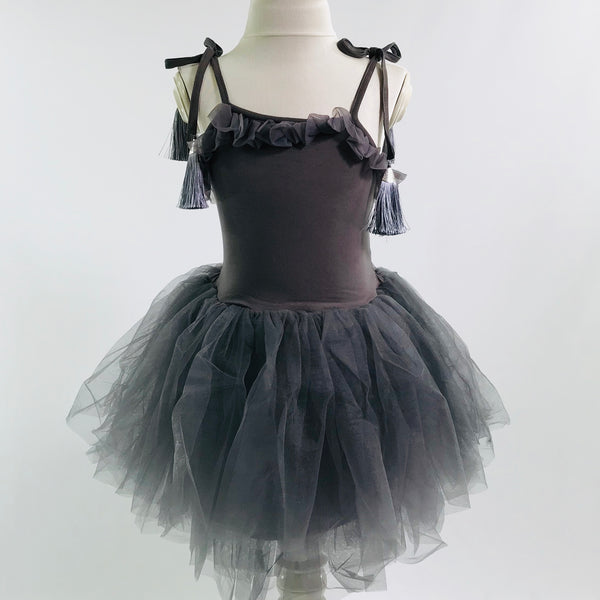 76270e67a1 OUTLET!] DOLLY by Le Petit Tom ® TASSEL TUTU DRESS dark grey
