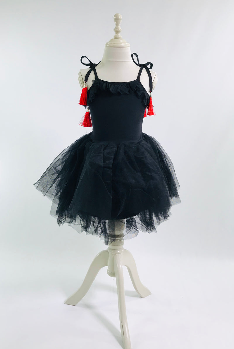 [OUTLET!] DOLLY by Le Petit Tom ® TASSEL TUTU DRESS black