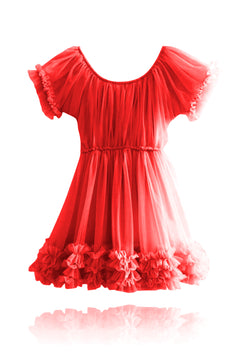 DOLLY by Le Petit Tom ® FRILLY DRESS red
