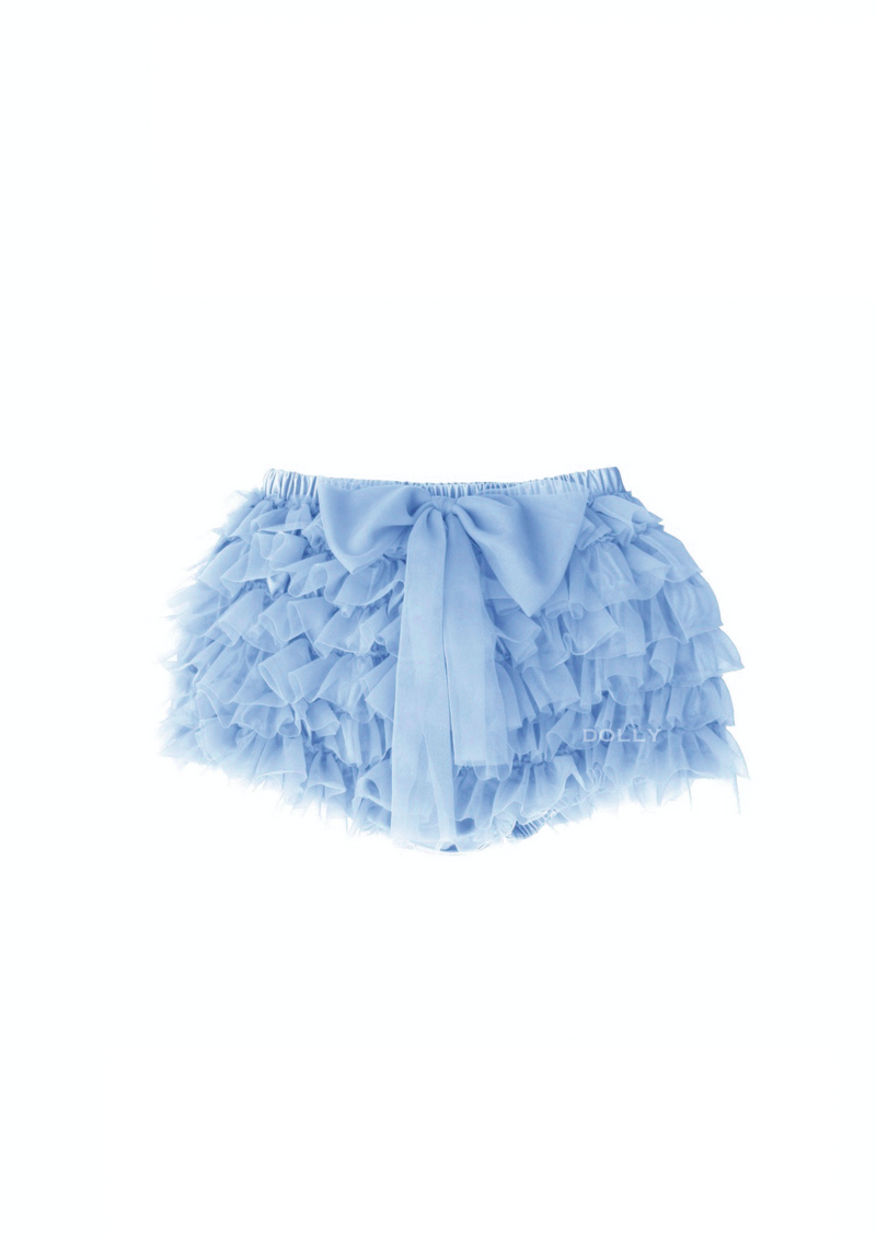 DOLLY by Le Petit Tom ® FRILLY PANTS Tutu Bloomer light blue