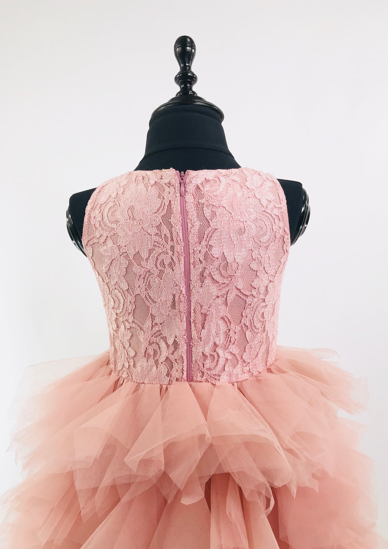 DOLLY by Le Petit Tom ® LACY DARING HIGH-LOW TUTU DRESS pink