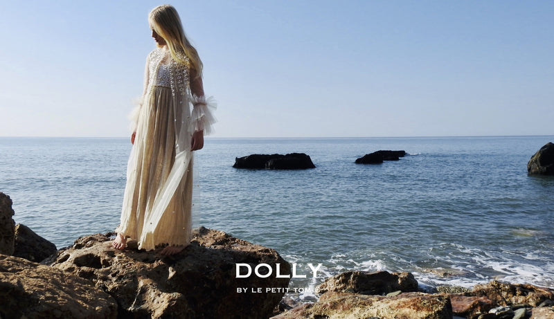 DOLLY by Le Petit Tom ® JEWELER'S CRYSTALS 'shining' maxi cape