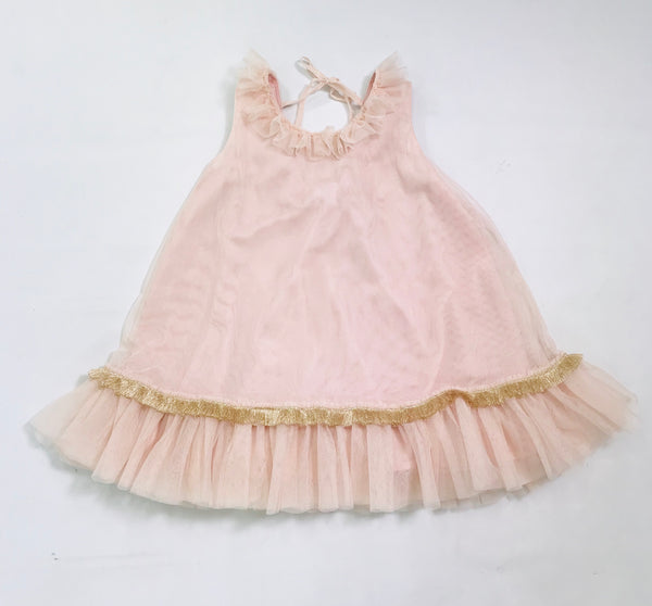 [OUTLET!] DOLLY by Le Petit Tom ® KINGS DAUGHTERS DAILY DRESS ballet pink