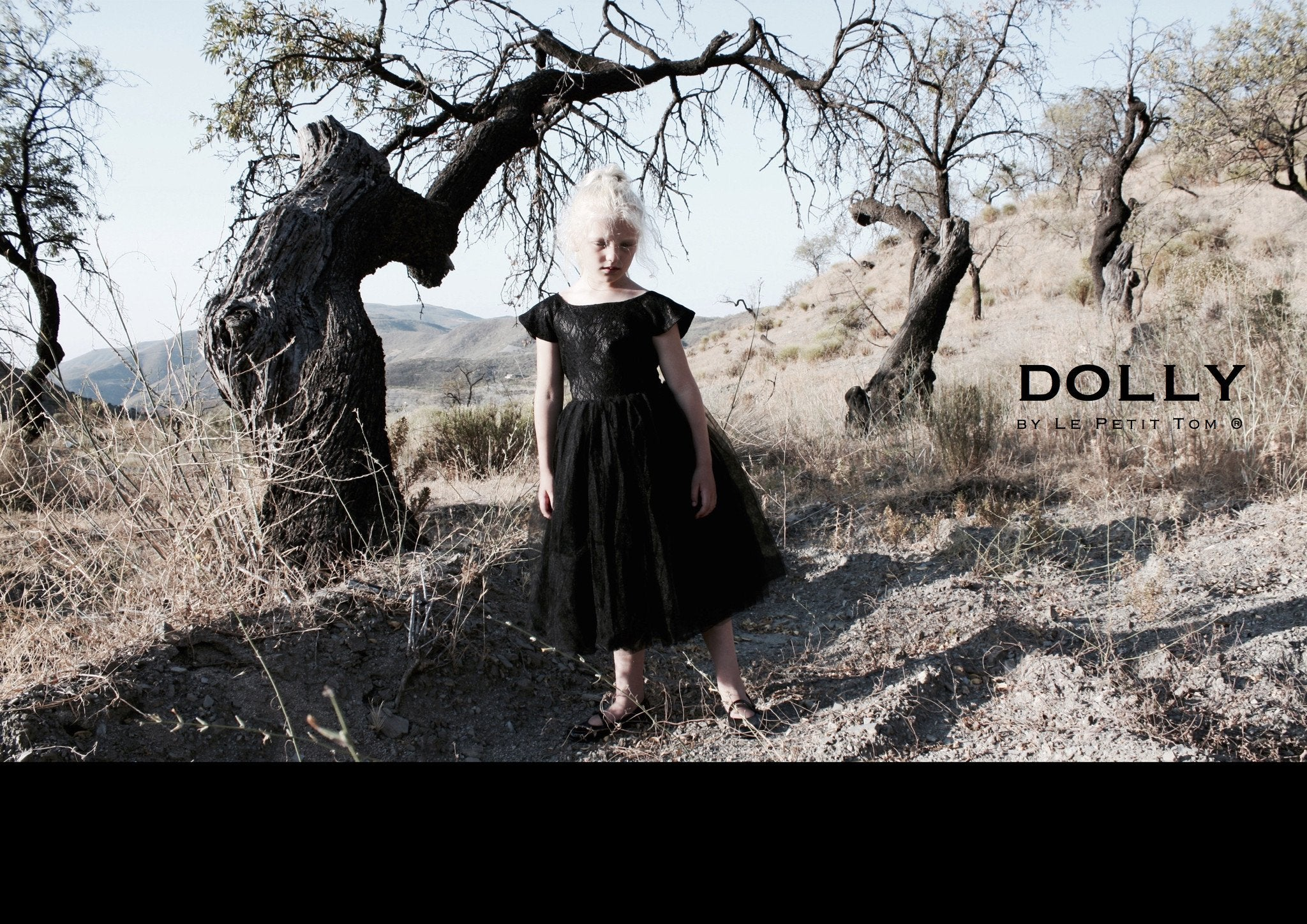 DOLLY by Le Petit Tom ® the DREAMY DRESS black