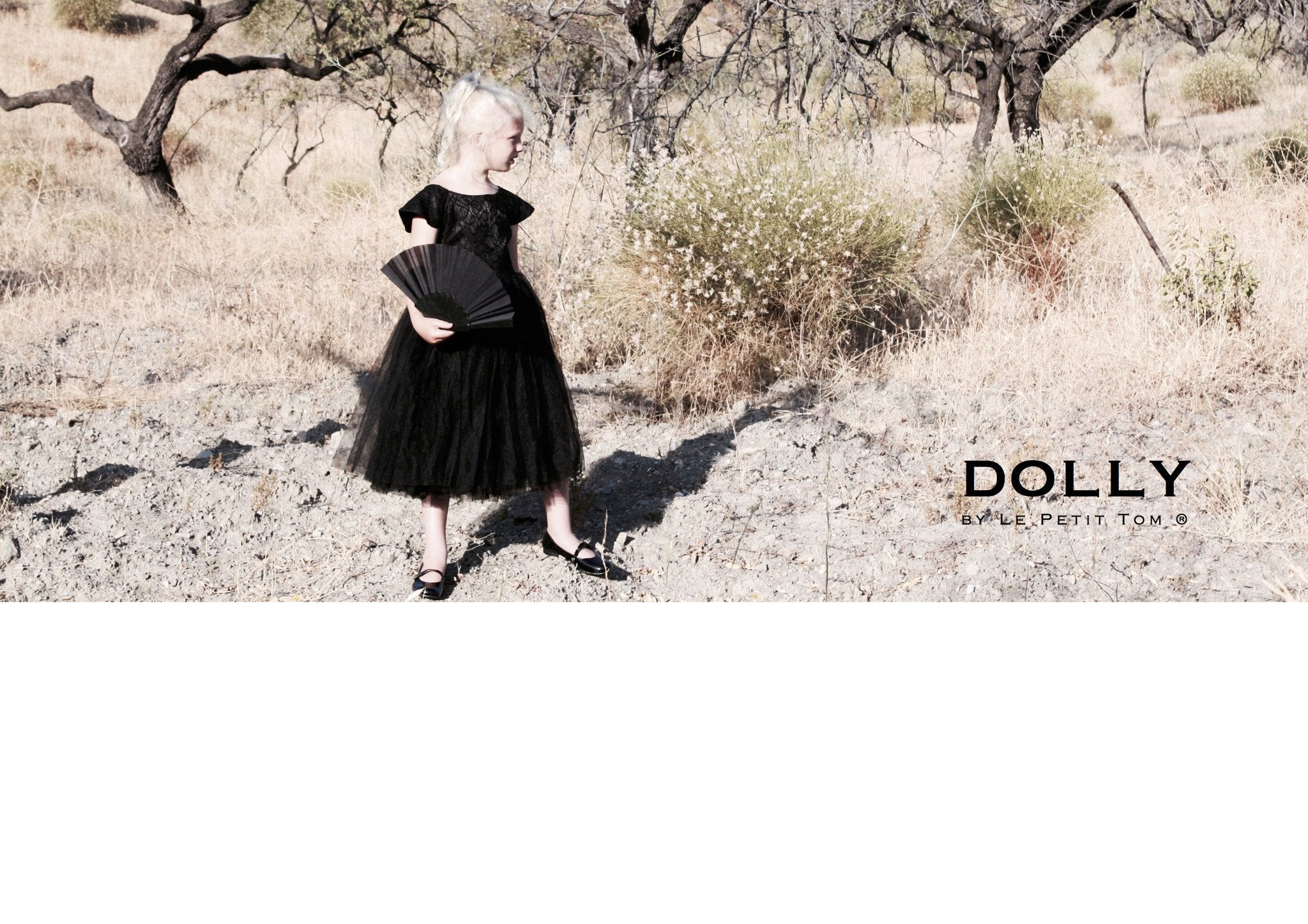 DOLLY by Le Petit Tom ® the DREAMY DRESS black - DOLLY by Le Petit Tom ®
